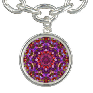 Mosaik-Muster-Charme-Armbänder, um oder Quadrat Armband