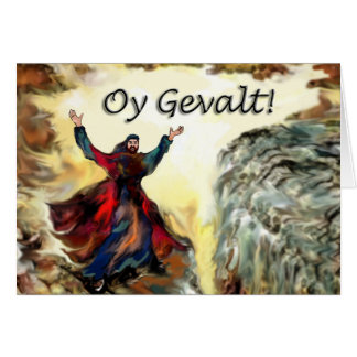 Moses Oy Gevalt! Grußkarte