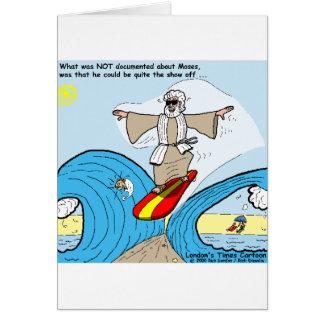 Moses surft lustige grußkarte