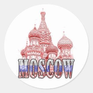 Moskau Runder Aufkleber