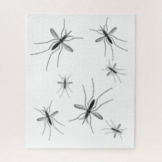 Moskito-Puzzlespiel-Weiß-Hintergrund Puzzle