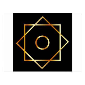 Moslemisches religiöses Symbol Symbols Postkarte