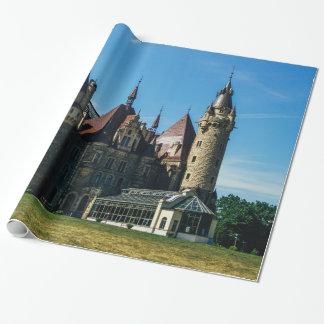 Moszna Schloss in Polen, Architektur-Foto Geschenkpapier