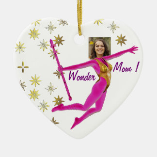 """Mother' s Day Ornament - Personalyze """"Wonder Mom """""""