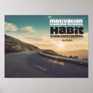Motivation und Gewohnheit Poster