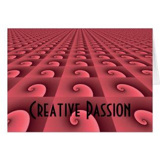 Motivierend Büro-Entwurf - kreative Leidenschaft Karte
