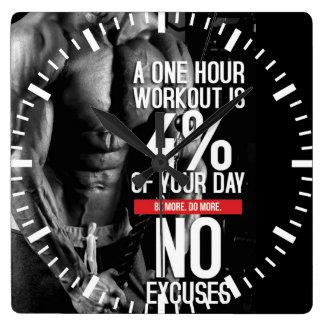 Motivierend Fitness-Turnhalle Quadratische Wanduhr