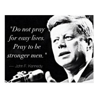 Motivierend Stärken-Zitate John F. Kennedy Postkarte