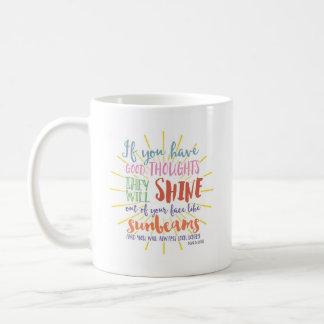Motivierend Tasse |, wenn Sie gute Gedanken haben