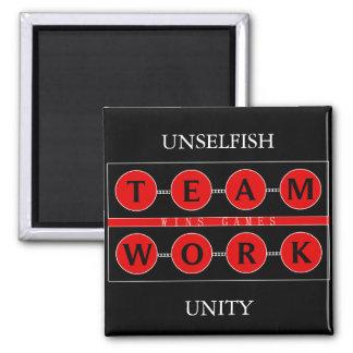 Motivierend TEAMWORK gewinnt Spiel-Magneten Quadratischer Magnet