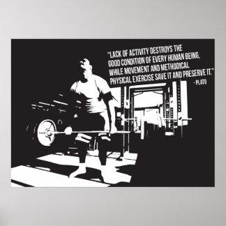 Motivierend Turnhallen-Plakat - Plato-Zitat Poster