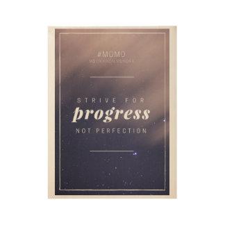 Motivierend Zitat-Plakat Holzposter