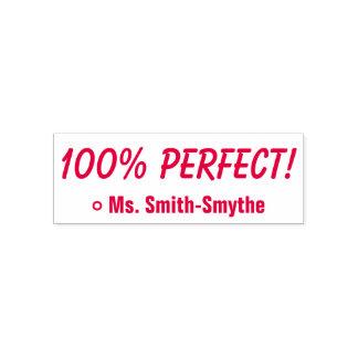 """Motivierung """"100% PERFEKT!"""" + Kundenspezifischer Permastempel"""