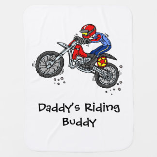 Motocross-Baby-Decke des Vatis Reitfreund Puckdecke