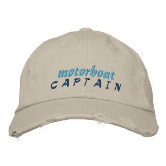 Motorboot-Kapitän Hat Bestickte Baseballkappe