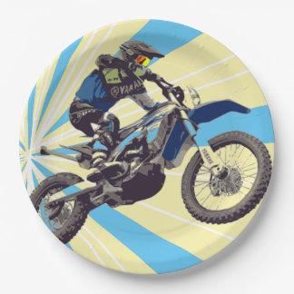 Motorcross Reiter-Papier-Teller 9 Zoll Pappteller 22,9 Cm