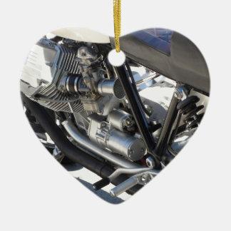 Motorrad chromierte Seitenansicht des Keramik Ornament