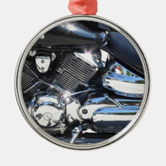 Motorrad chromierte Seitenansicht des Silbernes Ornament