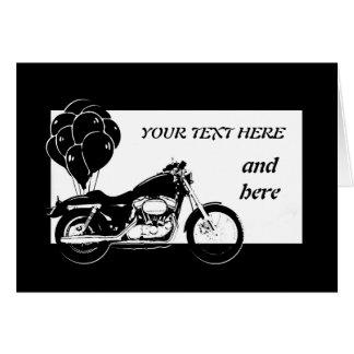 Motorrad Karte-Kundengerecht Grußkarte