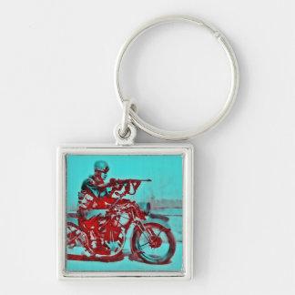 Motorrad-Soldat WWII Schlüsselanhänger