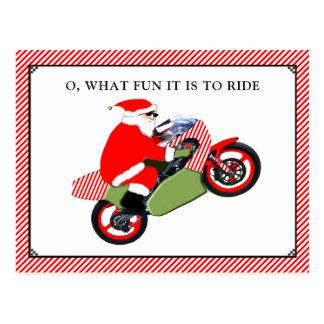 Motorrad Weihnachtskarten Postkarte
