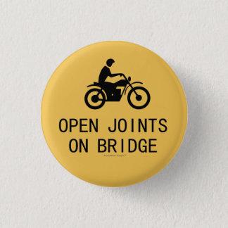 Motorrad-Zeichen - offene Gelenke auf Brücke Runder Button 3,2 Cm