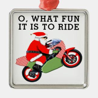 Motorradfahrer sammelbar silbernes ornament