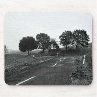 Mousepad einsame Landstraße