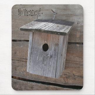 Mousepad mit grauem Birdhouse-Entwurf