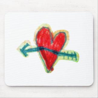 Mousepad mit Herz