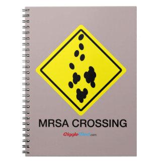 MRSA Überfahrt-Zeichen Notizblock