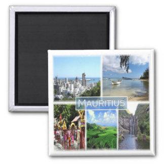 MU * Mauritius - Port Louis Quadratischer Magnet