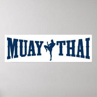 Muay thailändisches Logo Poster