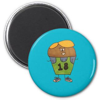 Muffin-Magnet - Tschad Runder Magnet 5,7 Cm