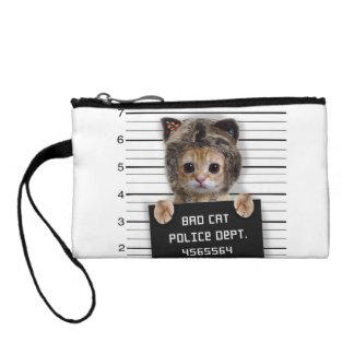 Mugshotkatze - verrückte Katze - Miezekatze - Kleingeldbörse