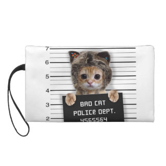 Mugshotkatze - verrückte Katze - Miezekatze - Wristlet