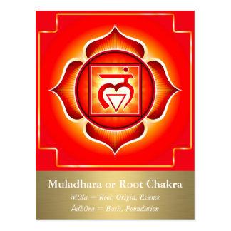 Muladhara oder Wurzel Chakra Postkarte