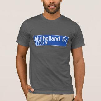 Mulholland Antrieb, Los Angeles, CA-Straßenschild T-Shirt