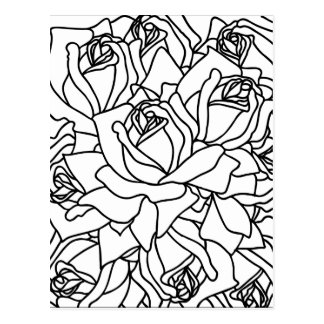 multi Rose Postkarte