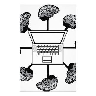 Multi-Verstandcomputer. Geschäfts-Netz. E-Learning Individuelles Druckpapier