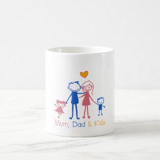 Mum Dad & Kids Tasse