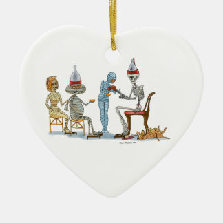 Mummific Skelett-Abendessen Keramik Ornament