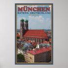 München Frauenkirche (Porträt) Poster