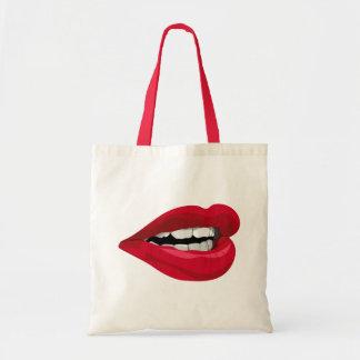 Mund Lippen mouth lips Tragetasche