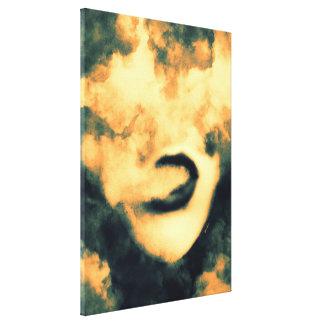 Mund-Rauch Vape Schmutz-Kunst Leinwanddruck