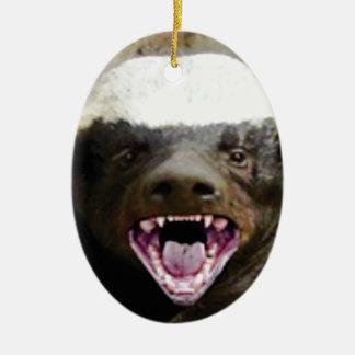 Mundbiss-Honigdachs Keramik Ornament