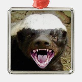 Mundbiss-Honigdachs Silbernes Ornament