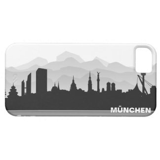 Munich skyline iPhone 5 sleeve/Case Barely There iPhone 5 Hülle