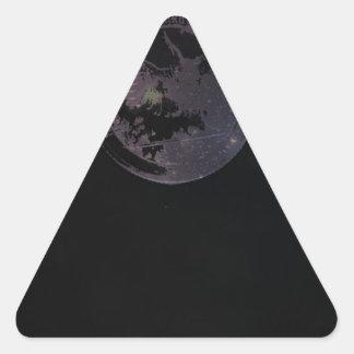 Münzen und Konstellationen Dreieckiger Aufkleber