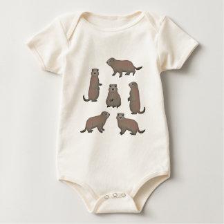 Murmeltier Auswahl Baby Strampler